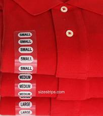Size Stickers - GENERIC 3/4'' X 4''