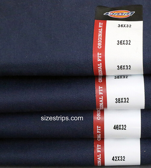 Size Stickers - Dickies - 1-1/4