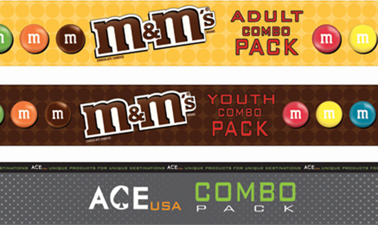 M&M and ACE USA combo pack stickers